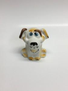 Статуэтка фарфоровая Собачка Чуня жёлтая в. 5 см