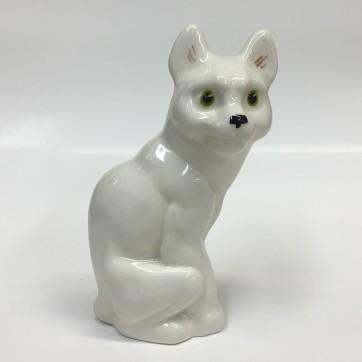 Statuehtka farforovyj Kot belyj, v. 9,5 sm