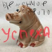 Statuehtka farforovaya Hryun s konfetoj pozhelaniem Uspekha