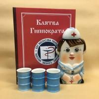 Наборы в Книге с Флягой Профессия с 3-мя рюмками